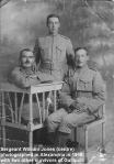 This is my grandfather in the centre. Photo taken in Alexandria in 1916 with two other survivors of Gallipoli. He was a sergeant - Copy